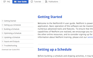 image of user guide page on pmatechnologies.com