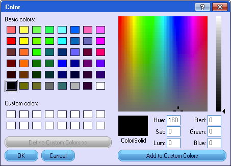 custom color formatting in netpoint