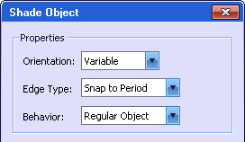 shade object properties dialog
