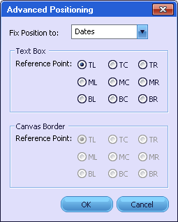 text object positioning